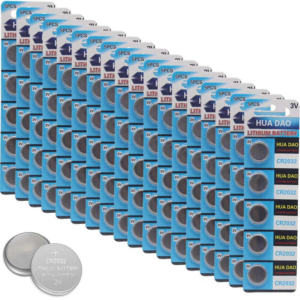 CR2032 Lithium Battery 3 Volt Coin Button Cell 100 Pack