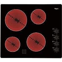 Whirlpool AKM9010NE plaque - plaques (Intégré, Céramique, verre-céramique, Noir, Rotatif, En haut à droite)