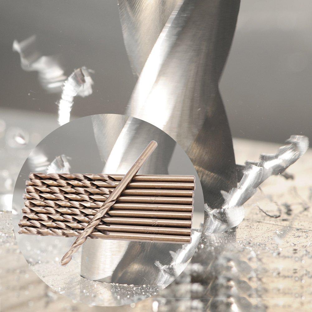 4mm 1-5mm Akozon HSS Bohrer Set Cobalt Bohrer Set High Speed Stahl Bohrer Set CO//M35 Spiralbohrer zum Bohren auf Edelstahl