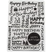 Feliz cumpleaños, carpetas de grabación en relieve