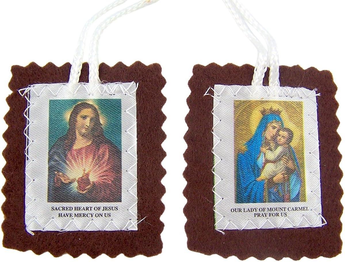 Scapular medal of Our Lady of Mount Carmel Brown Scapular