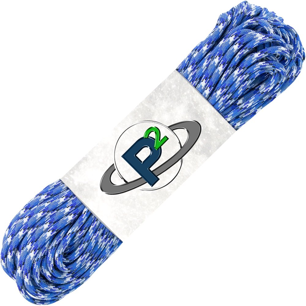 PARACORD PLANET Mil-Spec Commercial Grade 550lb Type III Nylon Paracord 10 feet Blue Camo by PARACORD PLANET (Image #1)