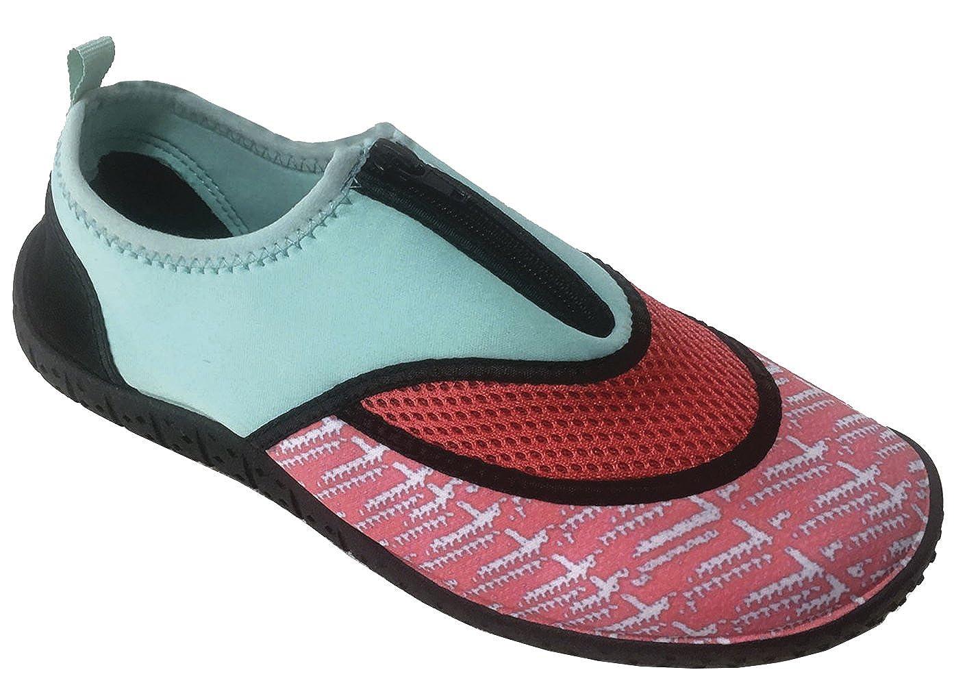 Cambridge Select Womens Mesh Quick Dry Zipper Water Shoe