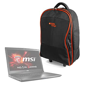 DURAGADGET Maleta de Ruedas para Viajar para Portátil MSI Apache Pro GE62MVR / HP Notebook 15