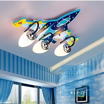 Ali Kinderzimmer Deckenlampe Jungen Kreative Flugzeug Lichter