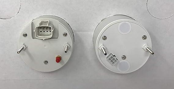 Universal Smoke Lens Electric 2/'/' Water Temp Gauge w// LED lights Hot Rod Racing