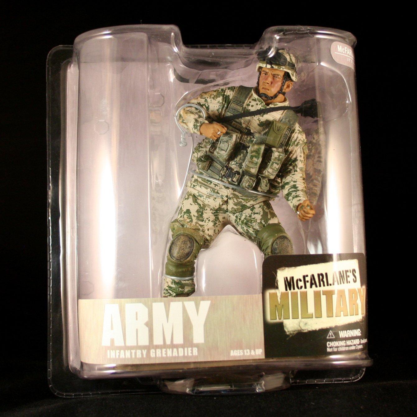 Reducción de precio ARMY INFANTRY GRENADIER  AFRICAN AMERICAN VARIATION  McFarlane's Military Series 6 Action Figure  Display Base by McFarlanes Military