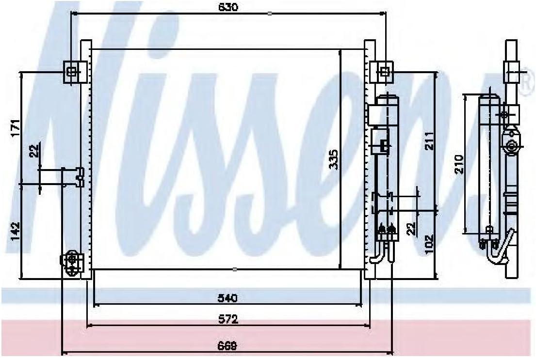Nissens 94949 Condenser air conditioning