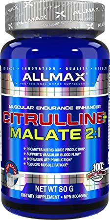 ALLMAX Nutrition 100 Pure Citrulline Malate 2 1 Powder, 80g