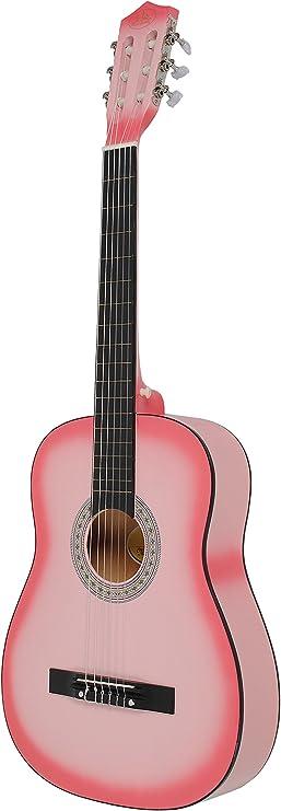 ts-ideen 5338 - Guitarra clásica con accesorios, color rosa ...