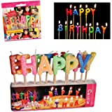 """Bougies joyeux anniversaire """"HAPPY BIRTHDAY"""" - Décoration forme de lettre gateau"""