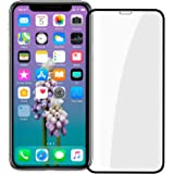 """iPhone X Screen Protector, [Easy Install] 3D Curved Anti-Bubble Ultra HD Tempered Glass Case Friendly Screen Protector for Apple iPhone X/XS (5.8"""") Black"""