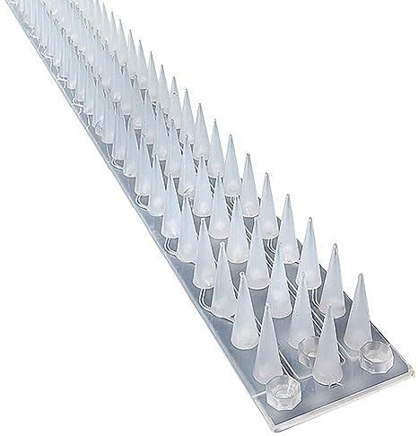 Sistema de pinchos contra escalada, de la marca Pestexpel®, para Gatos, Pájaros, humanos, para valla, ventana, pared, puerta cobertizo, paquete de 5 ...