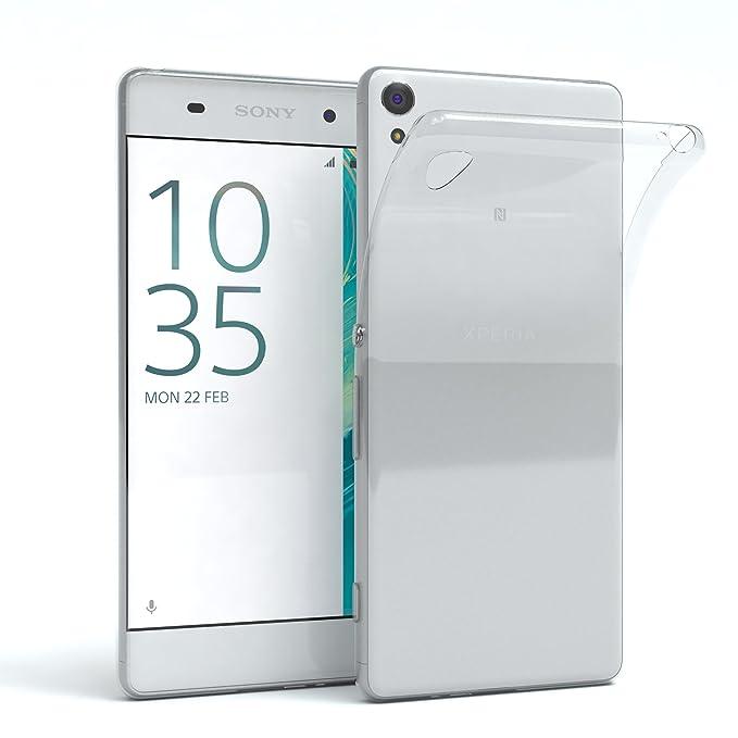 EAZY CASE Sony Xperia XA Schutzhülle Silikon, Ultra dünn, Slimcover, Handyhülle, Silikonhülle, Backcover, Durchsichtig, Klar