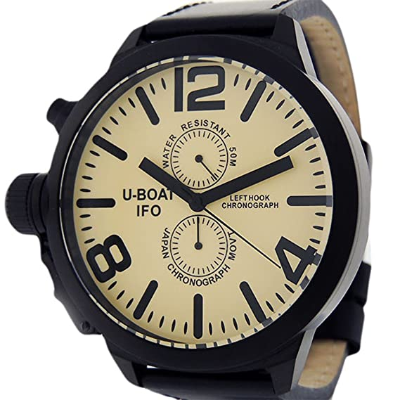 U-Boat gancho de izquierda IFO japanese-quartz Cronógrafo Mens Reloj 7249 (Certificado) de segunda mano: U-Boat: Amazon.es: Relojes