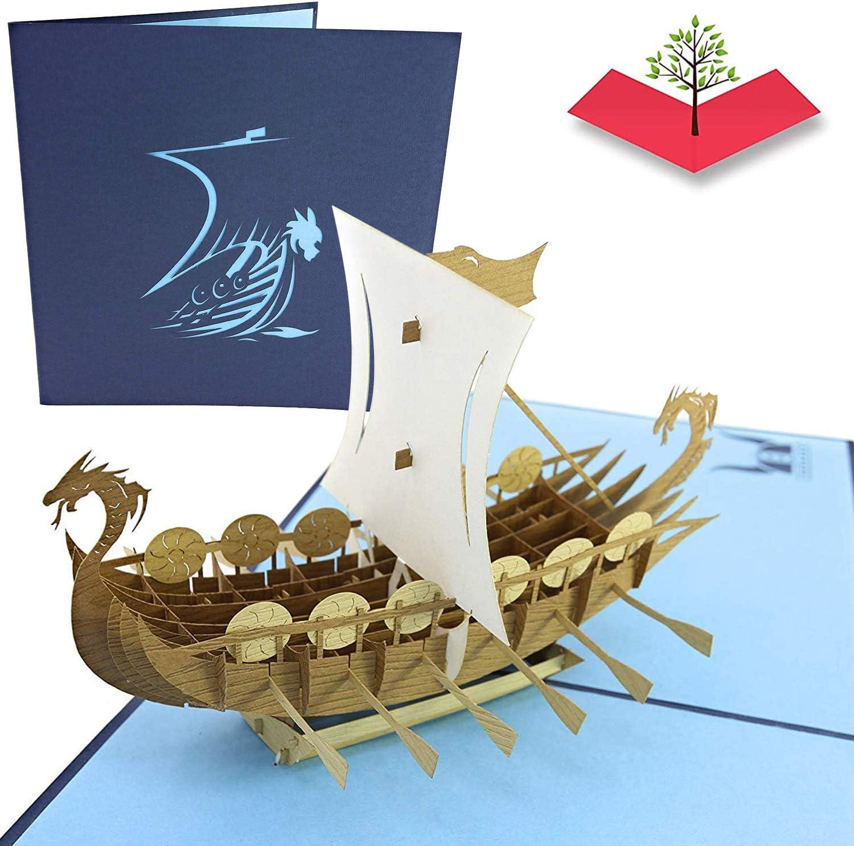 Tarjeta emergente 3D PopLife-Barco