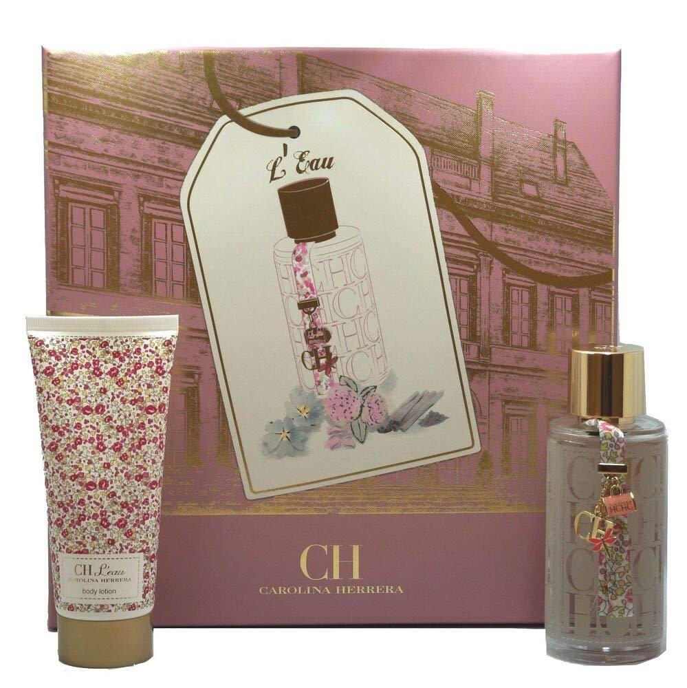 Carolina Herrera 'Ch' L'eau For Women 2 Piece Set (3.4 Oz Eau De Toilette Spray + 3.4 Oz Body Lotion)