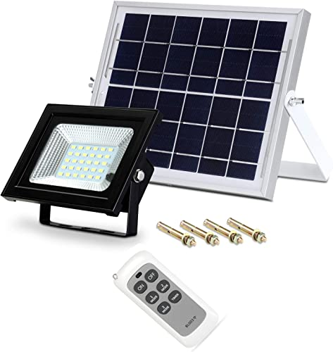 Solar Flood Light Dusk to Dawn, Kutachi 800LM 3 Optional Modes Remote Outdoor LED Solar Light 10W Waterproof IP65 Motion Solar Powered Security Light for Swimming Pool Garden Yard