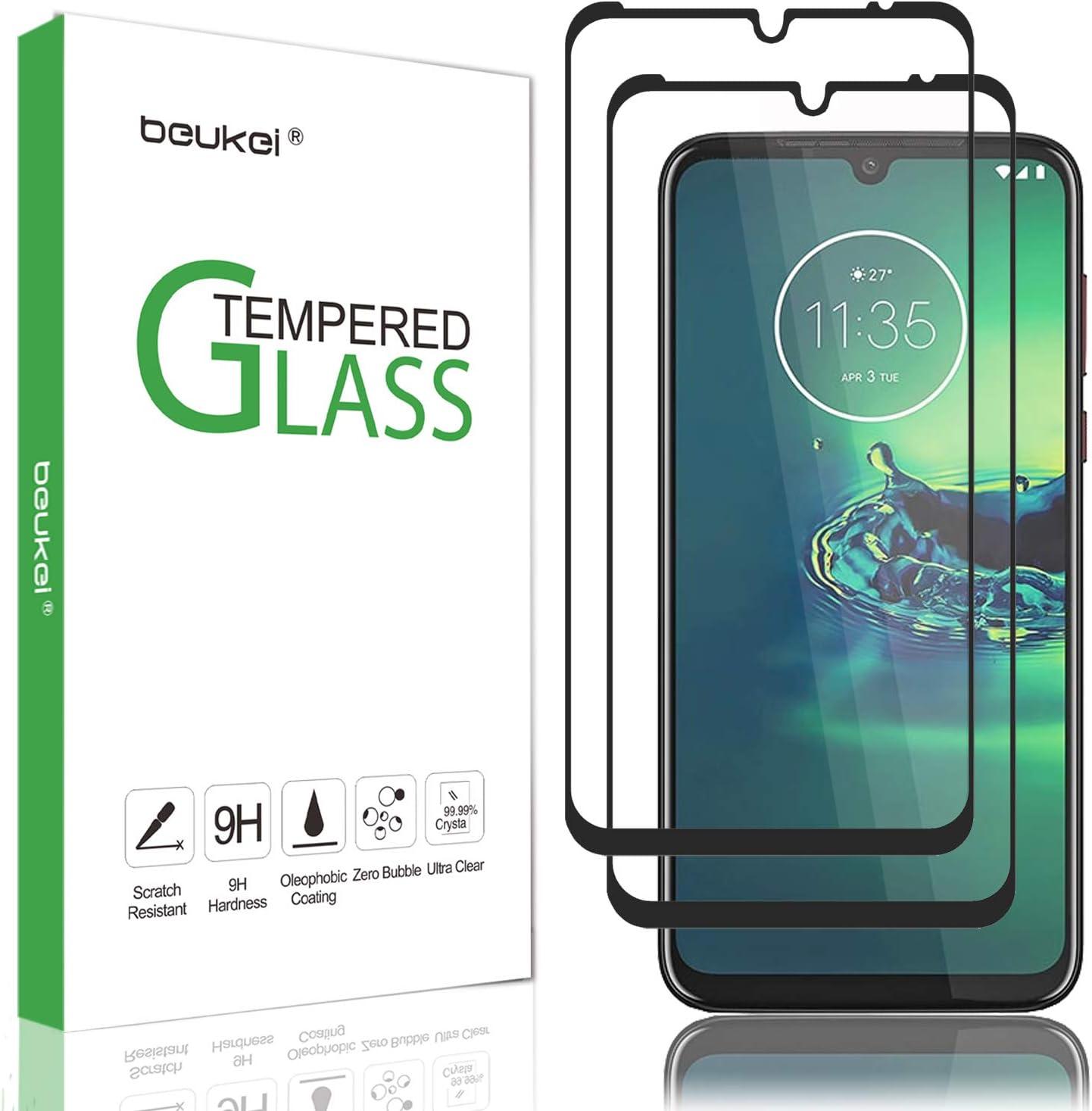 Protector de pantalla de vidrio templado (Moto G8 Plus).2un