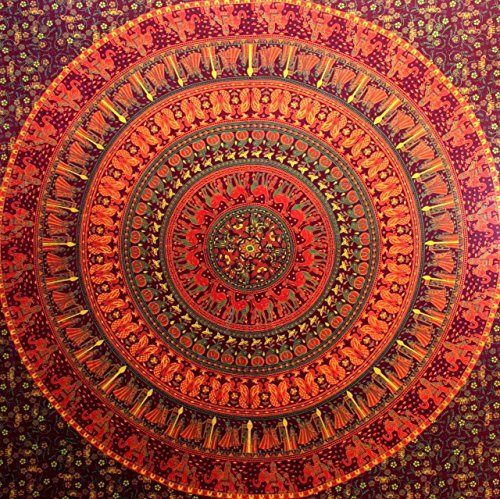 Americana Decor's Mandala Tapestry Hippy Beach Sheet Indian Mandala Wall Hanging Throw (Mahrron)