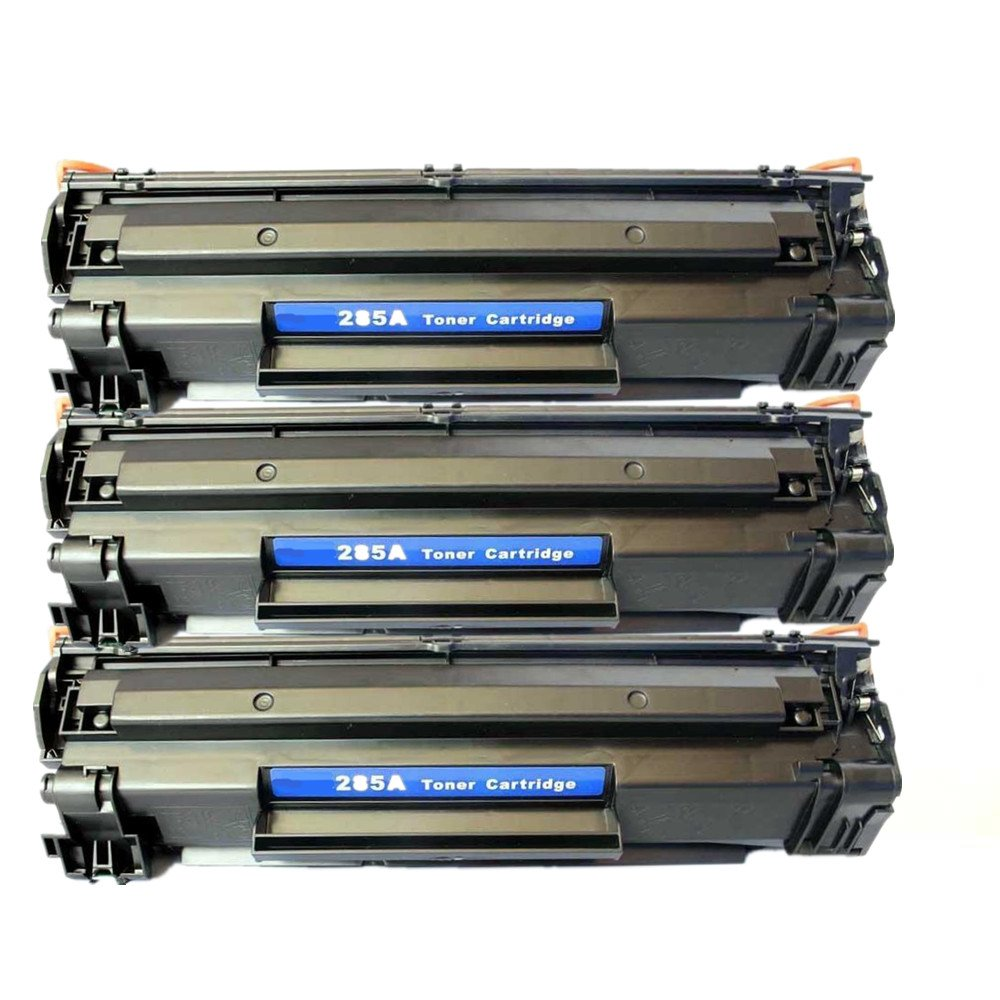 3 PACK Save on Many Compatible HP 85A CE285A 85 285A Black BK HP85A New Laser Toner Cartridge For HP LaserJet Pro M1210, M1212nf, M1217nfw MFP, P1100 Series, P1102 / LaserJet M1132, P1100 Series, P1102W - each 1,600 Pages Yield