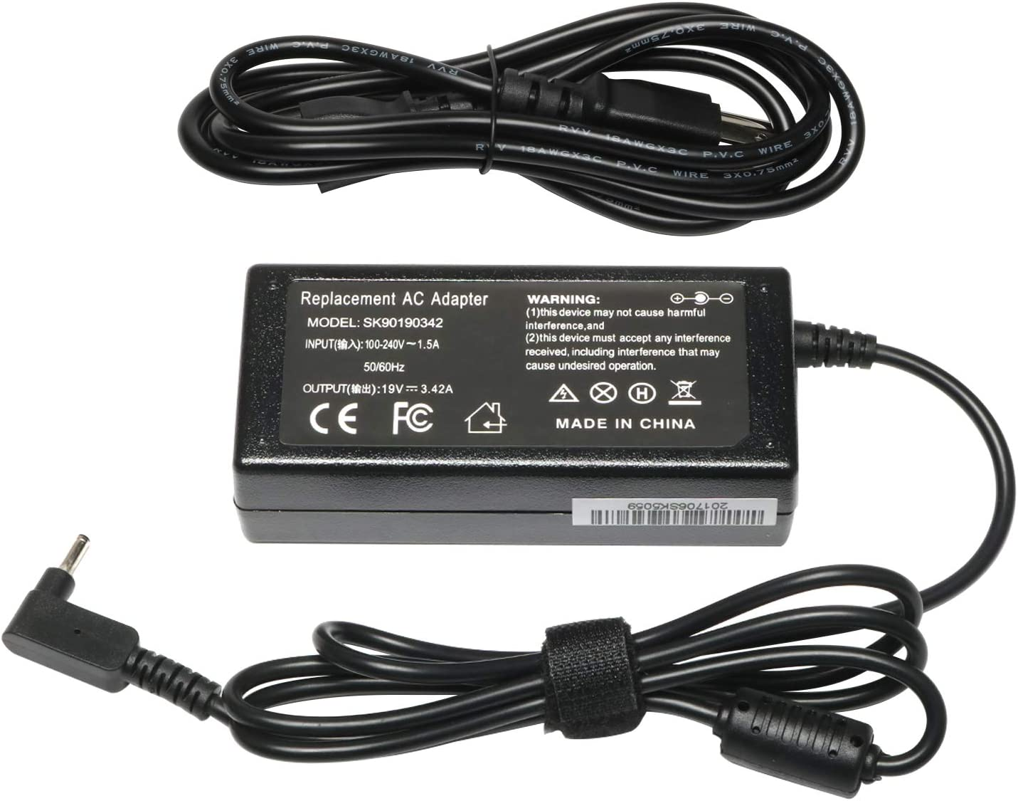 Efficient and Stable AISENBO 19V 3.42A 65W Laptop Adapter Charger for Acer Chromebook 11 13 14 15 CB3 CB5 C720 C720P C740 C910 Acer Aspire P3 S7 Acer Iconia W700 W700P AC Power Supply