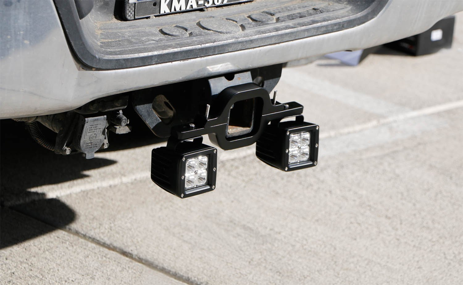 Tow Trailer Hitch Mount Bracket Dual Led Light Pod Bar