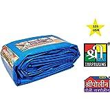 SHREE POLY TARPAULIN Pure Virgin UV Treated 125 GSM Water Proof Plastic Sheet (9x9ft, Blue)