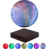 VGAzer Levitating Moon Lamp Floating and Spinning in Air Freely with Gradually Changing LED Lights Between 7 Colors,Decorativ