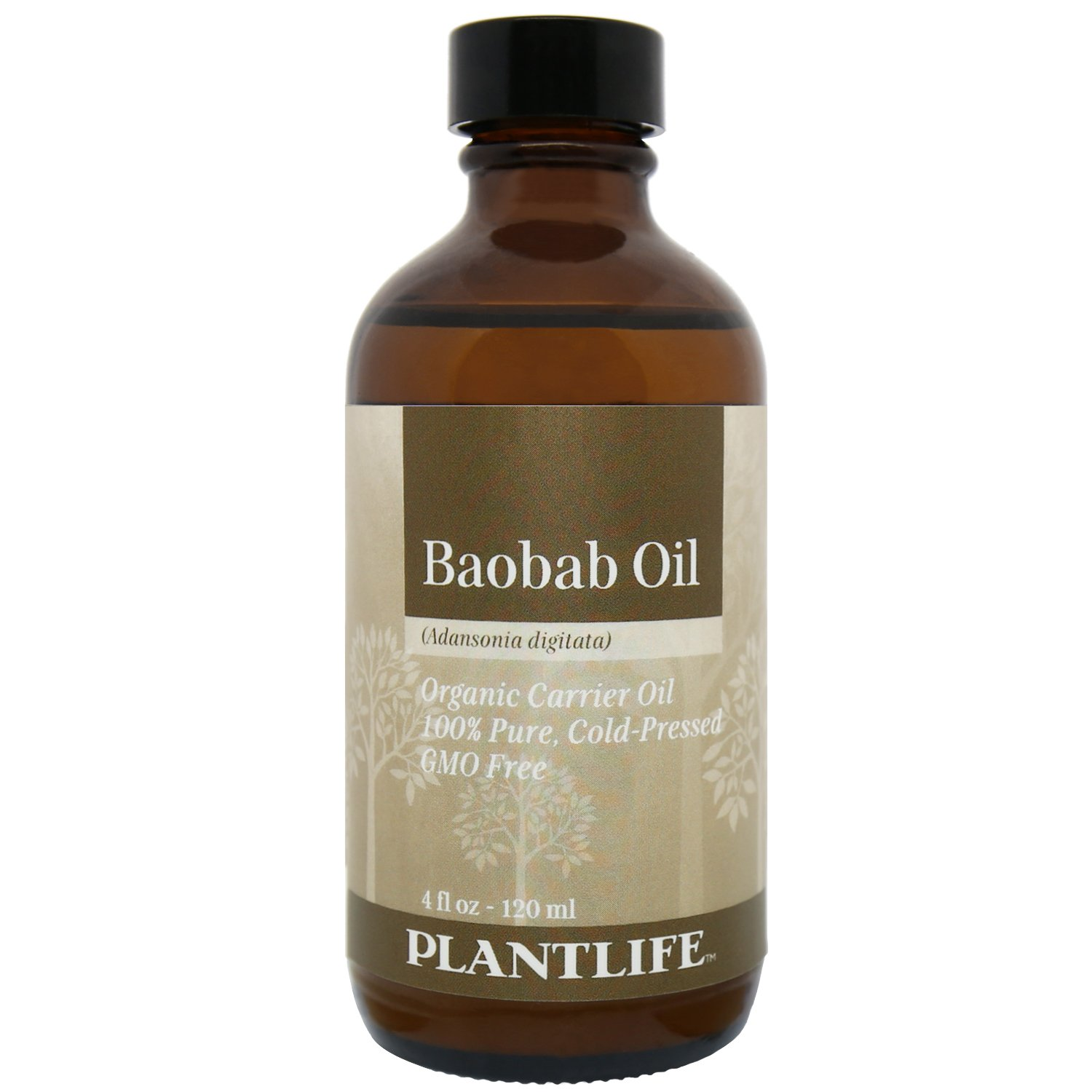 Plantlife Organic Baobab Carrier Oil 4 Oz 100 Pure Cold Pressed Base Oil For Aromatherapy Beauty