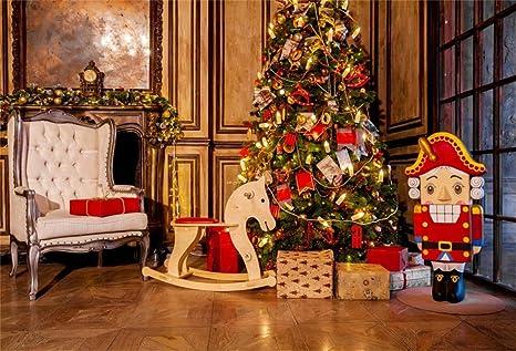 Living Room Christmas House Decorations Inside.Amazon Com Csfoto 10x7ft Background Sofa Christmas Tree