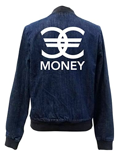 Money Euro Signs Bomber Chaqueta Girls Jeans Certified Freak