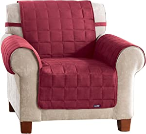SureFit Soft Suede Waterproof - Chair Slipcover - Burgundy