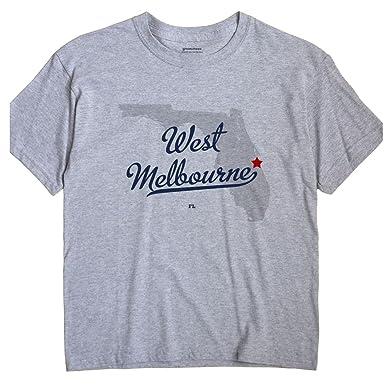 Amazon Com Greatcitees West Melbourne Florida Fl Map Unisex