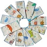 Muslin Baby Washcloths Set(12-Pack), Natural Cotton Infant Bath Towel, Soft Toddler Face Towel Gift Registry Newborn…