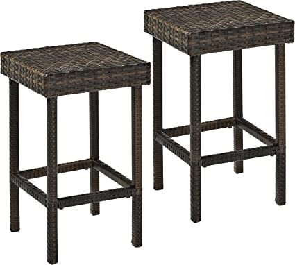 Peachy Renewed Brown Set Of 2 Crosley Furniture Palm Harbor Outdoor Ncnpc Chair Design For Home Ncnpcorg