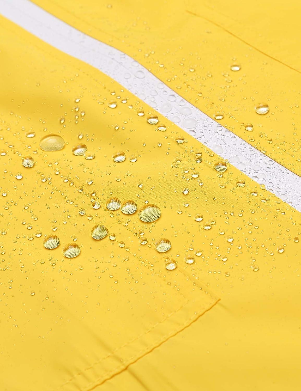 ELESOL Rain Jacket Women Long Rain Coat Lightweight Waterproof Windbreaker S-XXL