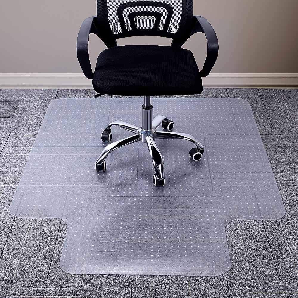 낮은 파일 카펫 용 AIBOB 의자 매트 53X45 인치 컬링없이 평면 컴퓨터 책상 용 사무실 카펫 바닥 매트