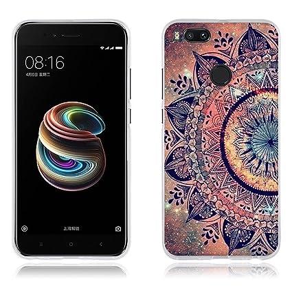 FUBAODA Xiaomi Mi A1/Xiaomi Mi 5X Funda TPU de Gel de Silicona, Lujoso Dibujo de un Mandala,Resiste a los Arañazos,Carcasa Protectora de Goma Xiaomi ...