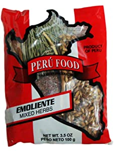 Peru Food - Emoliente - Mixed 100% Natural Herbs - 3.5 Oz - Used as a Traditional Drink