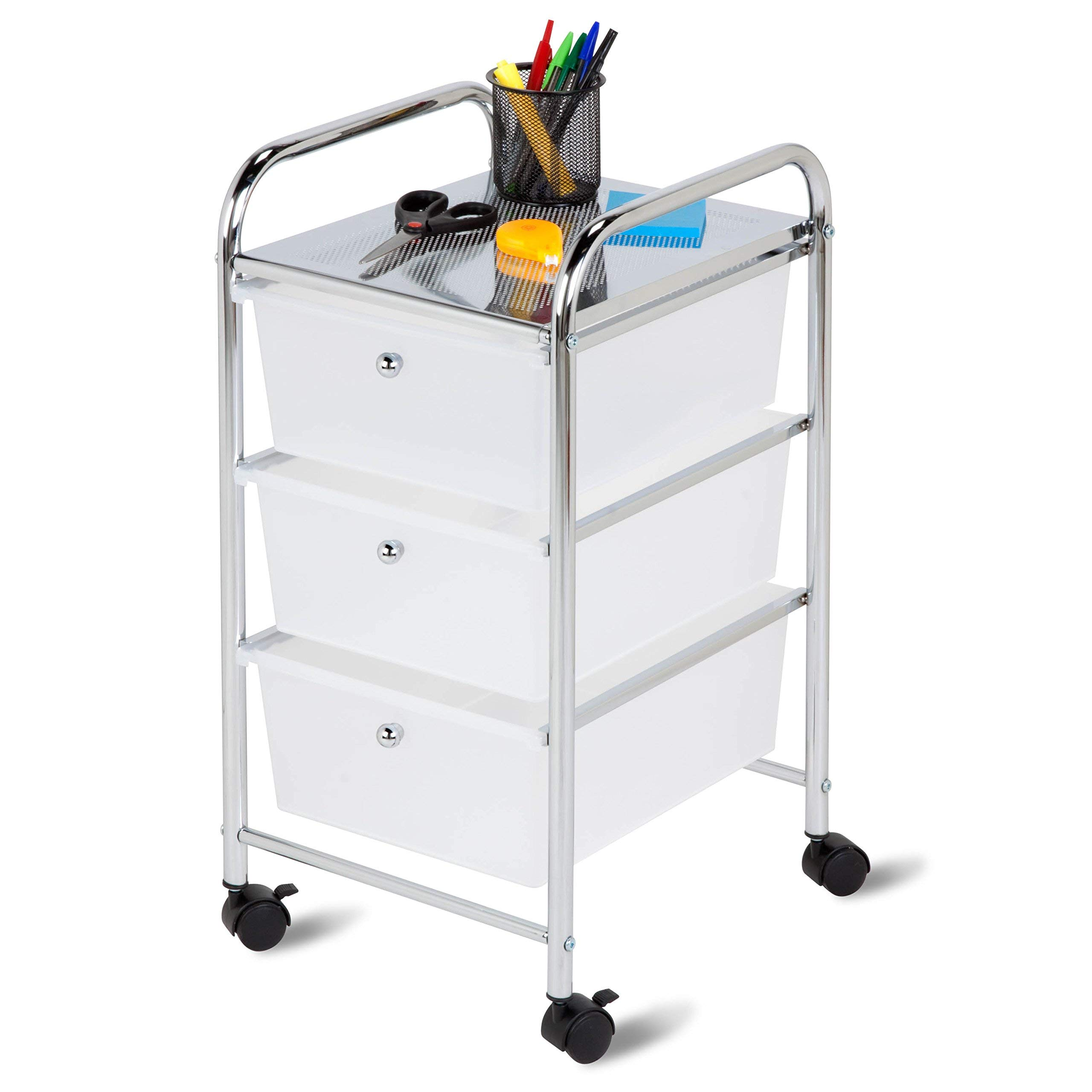 Best Choice 3-Drawer Plastic Storage Cart on Wheels