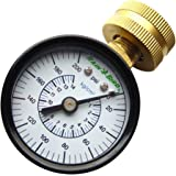 "Rain Bird P2A Water Pressure Test Gauge, 3/4"" Female Hose Thread, 0-200 PSI"