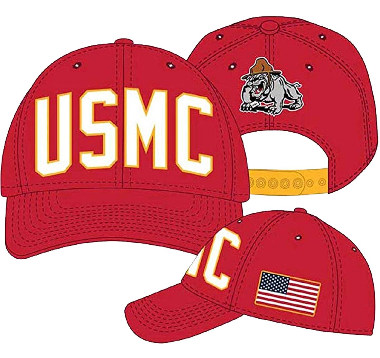H3 Sportsgear USMC Marines Salute Mascot Gorra Ajustable: Amazon ...