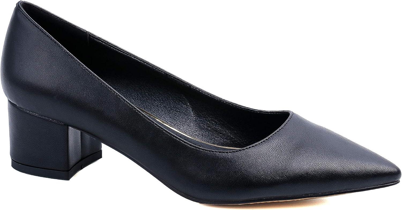Greatonu Women's Pointed Toe Block Heel