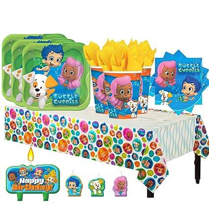 Amazon.com: Bubble Guppies Nickelodeon paquete de fiesta de ...