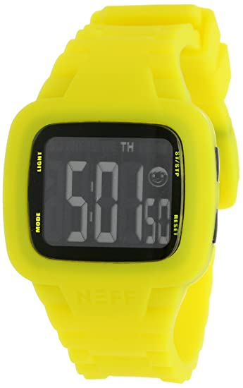 Neff NF0207YLLW - Reloj digital unisex, correa de silicona color amarillo: Amazon.es: Relojes