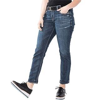 b3cd23ec Silver Jeans Co. Women's Plus Size Suki Curvy Fit Mid Rise Ankle Slim Jeans