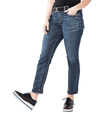 53be2980 Amazon.com: Silver Jeans Co. Women's Plus Size Suki Curvy Fit Mid Rise  Ankle Slim Jeans: Clothing