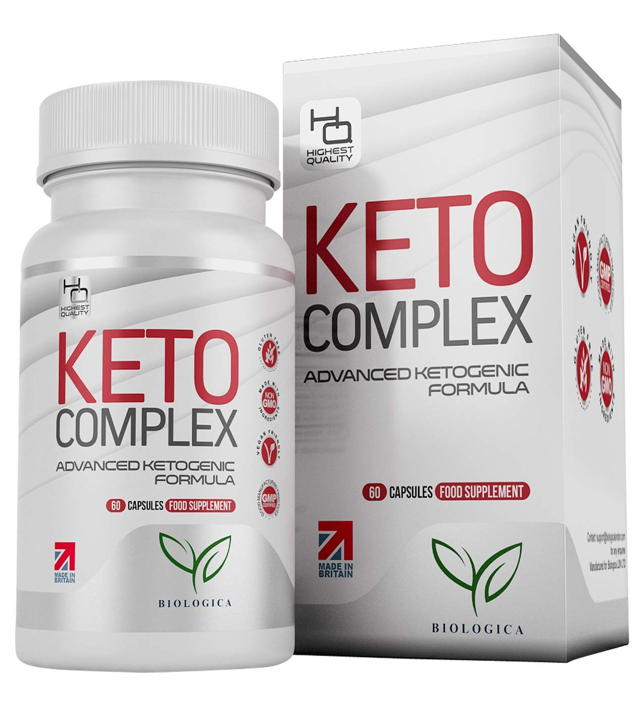 Keto Diet Pills for Men & Women | Natural Green Tea, Green Coffee + Raspberry Fruit Extract for Optimal Weight Management | 1 Months Supply - 60 Tablets | Recipe eBook Included