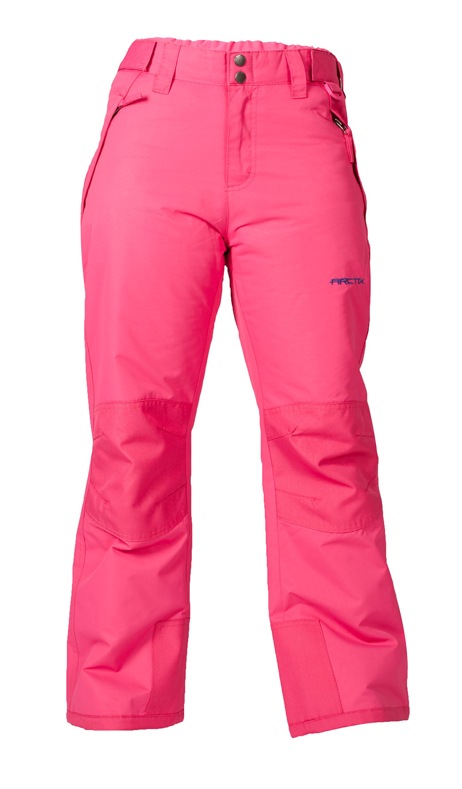 Arctix Youth Snow Pants with Reinforced Knees and Seat, Fuchsia, X-Small